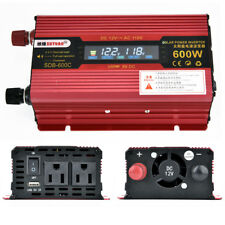 US 600W Car Portable LCD Power Inverter DC 12V To AC 110V Converter