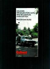 GELHARD <HIFI-KLANG WIE ZU HAUSE> PROSPEKT 81/82 (BROCHURE)