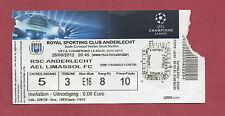 Orig.Ticket   Champions League  2012/13   RSC ANDERLECHT - AEL LIMASSOL FC  !!