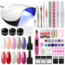 COSCELIA Nail Polish Gel Nail Kit Semi-permanent Soak Off Set Nail Art Varnish