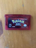 POKEMON RUBY VERSION GAME BOY ADVANCE 2003 NINTENDO AUTHENTIC TESTED Dry Battery