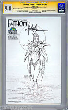 FATHOM #0 CGC-SS 9.8 MICHAEL TURNER WIZARD WORLD EXCLUSIVE SKETCH VARIANT 2005