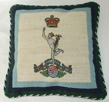 Royal Signals Heraldic Needlepoint Cushion Cover Tapestry Handmade
