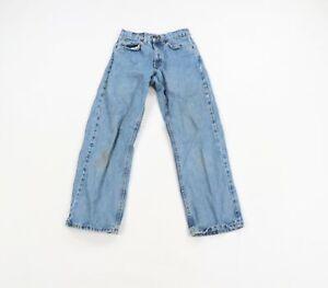 Vtg 90s Levis 565 Wide Leg Student Fit Orange Tab Distressed Jeans USA Men 27x28