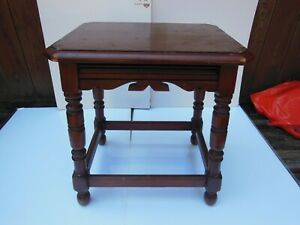 Tomlinson Chair Co., wooden side table, 1929, with label, High Point NC