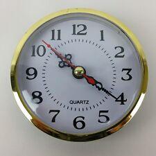 "Quartz 88mm Diameter Insert Clock Replacement Mechanism 3-1/2"" Clock Part"