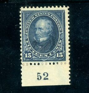 USAstamps Unused FVF US 1894 Issue Clay Plate # Scott 259 OG MHR
