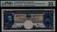 Commonwealth of Australia ND1933 £5 KEVIII PMG Certified VF35 R44b Pick# 23b