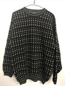 Men's Bachrach Long Sleeve Sweater - L - Black