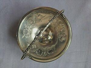 Antique Rogers Bros. Quadruple Plate Victorian Brides Wedding Basket