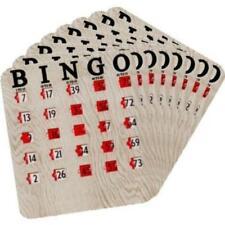 Regal Games 25 Woodgrain / Tan Fingertip Shutter Slide Bingo Cards, New, Free Sh