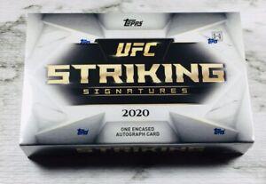 """TOPPS"" UFC STRIKING SIGNATURES SEALED BOX!! 1 ENCASED AUTO SIGNED CARD PER BOX!"