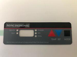 NEW!!  Hayward  Compatible HF HFD Pool Heater Bezel Assembly Keypad By INSYNC