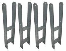 4er Set H-Armature Post-Responsables Galvanisé à Chaud 121/600 MM Supports en H
