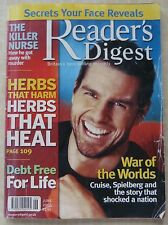 READER'S DIGEST MAGAZINE, JUNE 2005, WAR OF THE WORLD, CRUISE, SPIELBERG, HERBS