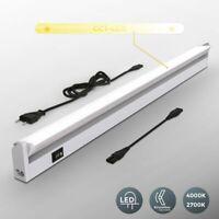 LED Unterbauleiste Schrank-Lampe schwenkbar Küchen-leuchte Werkstatt silber/weiß