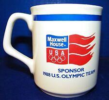 Mug Coffee Cup Tea Hot Chocolate Maxwell House 1988 USA Olympic Sponsor Calgary