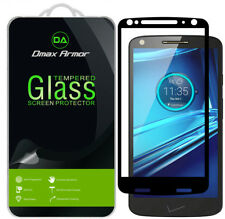 2-Pack Motorola Droid Turbo 2 Tempered Glass Full Cover Screen Protector Black