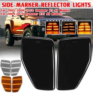 PAIR Side Marker Corner Parking Lights For Hummer H3 Alpha/X/Championship 06-10