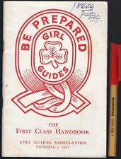1967  1963 Girl Guides FIRST CLASS HANDBOOK VICTORIA: BE PREPARED