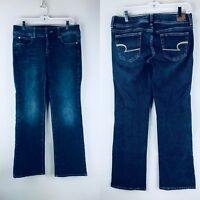 American Eagle Womens Jeans Size 6 Slim Boot Cut Stretch Blue Denim Pants