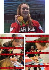 "PENNY OLEKSIAK signed ""2016 OLYMPICS"" 8X10 PHOTO d PROOF Gold Medal Swimming COA"