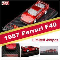 Limited VMB 1:64 Scale 1987 Ferrari F40 Metal Red Resin Car Model Collection