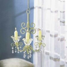 Chandelier Distressed Ivory Shabby Candleholder Wedding Party Hanging Decor