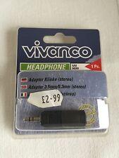 Vivanco 04269 Adattatore Per Cuffie 3.5mm/6.3mm - Stereo