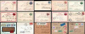 Sweden 1880 - 1968 Postcards Covers Postal History TPO Cancels FDC Censor Multi