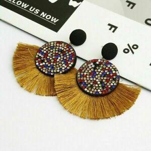 Fashion Earrings Stud Threader Long Drop Tassel Crystal Dangle Wholesale Hot