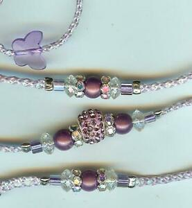 NEW! BEADED DOG SHOW LEAD LEASH/SLIP/TOY/purple irresdecent