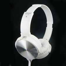 Cuffie stereo Extra Bass BIANCHE archetto regolabile+microfono p smartphone BSV6