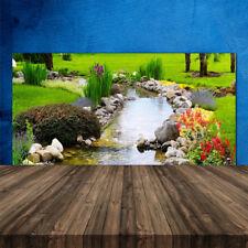 Küchenrückwand aus Glas ESG Spritzschutz 120x60cm Garten See Natur