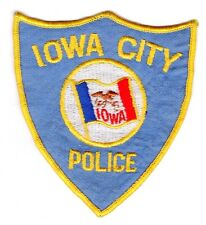 Vintage IOWA CITY Iowa IA Police Patch Cheesecloth Back