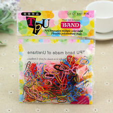 400pcs Rubber Hairband Rope Ponytail Holder Elastic Hair Band Ties Braids Hot