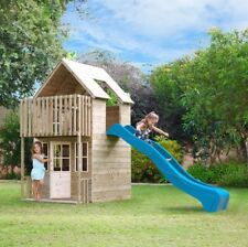 TP Skye Two Storey Wooden Playhouse and Slide (3-10 years)
