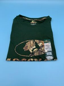 Mossy Oak Men's Short Sleeve Logo T-Shirt, Forest Green Size LARGE  New with Tag
