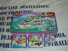 Lot LEGO friends Yacht 41015 41000 jet ski 41010 beach buggy 41028 maître nageur