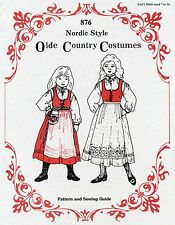 Girls Nordic Style Jumper, Blouse, Apron, Bag 7-14 Olde Country Costumes Pattern