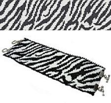 Loom Bead Pattern - Zebra Safari Cuff Bracelet