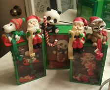 LOT - 5 HALLMARK * VINTAGE* Stocking Holders * Christmas * Snoopy *Santa* Panda