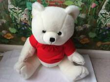 "Steven Smith Teddy Bear Plush 24"" Stuffed Animal White in a Red Shirt  Large"