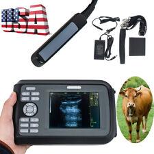 Us Vet Handhled Ultrasound Scanner Machine System Animal Veterinary Rectal Probe