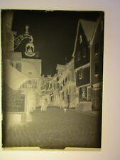 Riquewihr . hôtel FERCH . plaque de verre négatif photo ancienne