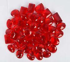 5000 Ct. Beautiful Translucent RED Topaz Mix Cut Loose Gems Lot 2 Emerald Free