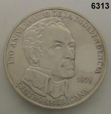 1971 PANAMA 20 BALBOAS SILVER 150TH ANNIVERSARY #6313