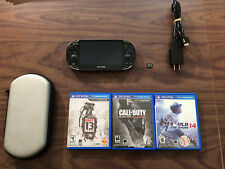 Sony PlayStation Vita PCH 1001 Model Bundle +Charger+ Wi-Fi Only+ 8 GB + 3 Games