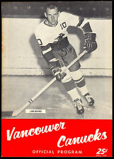 1962 63 VANCOUVER CANUCKS HOCKEY WHL PROGRAM VS SEATTLE TOTEMS UNMARKED EX-NM