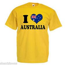 I Love Heart Australia Children's Kids T Shirt
